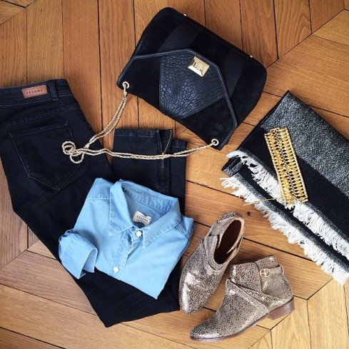 Bottines Midnight Bronze 180 Euros, Jeans 95 Euros, Sac Clarks 300 Euros (Dispo en Mars seulement)