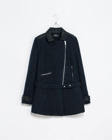 Manteau ceinturé - Zara - 80 Euros
